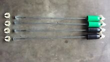 Set of 4 GE Top Load Washer Suspension Rods Green and Black