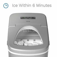 NEW Portable Ice Maker   Silver   For Kitchen Office  Patio Backyard Boat Bar