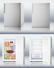 120 Volts Slim 20  Width Any Kitchen Setting Refrigerator Stainless Steel Silver