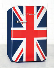 Nostalgia RETRO SERIES 3 8 CUBIC FOOT UNION JACK REFRIGERATOR FREEZER British