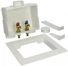 Eastman 60245 1 2in PEX Dual Outlet Washing Machine Outlet Box