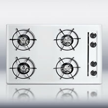 New in Box White 30  Gas 4 Burner CookTop Surface Unit Elec Ign   FREE Shipping