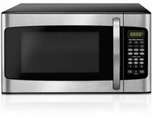 Hamilton Beach 1 1 Cu Ft Microwave Oven 1000W Kitchen LED Display Stainless