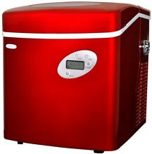 NewAir 50 lb Portable Ice Maker Red Plastic Electronic Removable Basket
