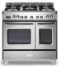 Verona Classic VCLFSGE365DSS 36  Pro Style Dual Fuel Gas Range Stainless Steel