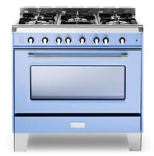 Verona VCLFSGG365BL 36  Pro Style All Gas Range Single Oven Light Blue