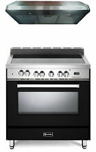 Verona VEFSEE365E 36  Electric Range Single Oven 2Pc Kitchen Package