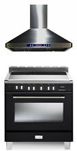 Verona Classic VCLFSEE365E 36  Electric Range Single Oven Hood 2 pc Package