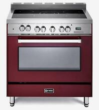 Verona VEFSEE365BU 36  Electric Range Oven 5 Elements Convection Burgundy