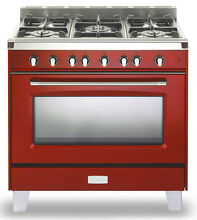 Verona Classic Series VCLFSGG365R 36  Pro Style All Gas Range Single Oven Red