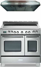 Verona Classic VCLFSEE365DSS 36  Electric Double Oven Range 2pc Kitchen Package