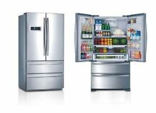 36  THOR KITCHEN Counter Depth Stainless French Door Refrigerator  Ice Maker