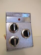 JENN AIR Cooktop Control Panel w  3 Knobs Switches   Timer WORKS Free Ship VTG