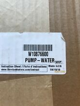 W10876600 For Whirlpool Washer Drain Pump