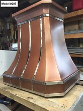 Copper Vent Hood  All Metals And All Sizes  Vent Hood With Motor   Model  207