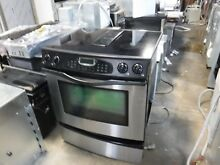 Jenn air downdraft stainless black range