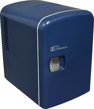 Uber Appliance Uber Chill Uber Chill 6 can Retro Blue Personal Mini Fridge