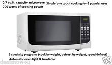 Microwave Oven Countertop 0 7 CU Feet Office Home Dorm Cottage Kitchen RV Cooker
