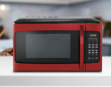 Microwave Oven for Kitchen Counter Apartment RED and Black Microonda Oven Rojo