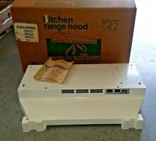 Caloric 30 in Kitchen Range Hood White Under Cabinet 2 speed Ductless Fan