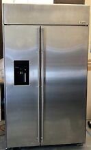 REMODELING SALE  GE MONOGRAM 48  FRIDGE BUILT IN SIDE BY SIDE STAINLESS