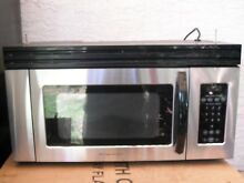 Stainless steel over the range microwave