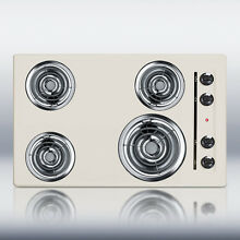 New in Box Bisque 30  Elec 4 Burner Cooktop SurfaceUnit