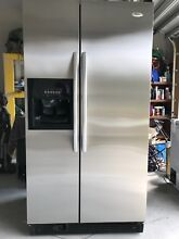 Whirlpool Used Side by Side Stainless Steel Refrigerator