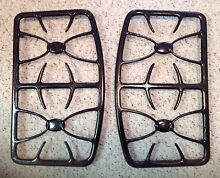 PAIR GENUINE GE GAS STOVE GRATES BURNERS BLACK WB31X10001