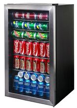 Small Beverage Cooler 126 Can 5 Shelf Rack Commercial Undercounter Mini Fridge