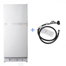 SMAD 6 5 CU FT Propane   Electric Fridge Freezer 2 Way LP Gas AC Cabin Caravan