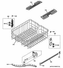NEW OEM GE DISHWASHER RACK UPPER ASM WD28X22676