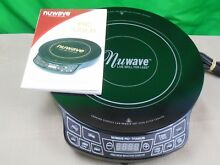 NUWAVE PIC TITANIUM PRECISION INDUCTION COOKTOP MOD  30341CQ W MANUAL 1800 WATTS
