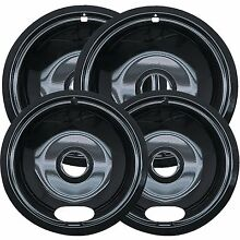 Drip Pan Set Universal Set Of 4 Porcelain Cooktop Style A Plug In Electric Range