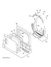 New OEM GE Washer Dryer Combo TRAP DUCT ASM WE14X27471