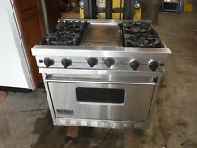 VIKING VGIC365 4GSS 36  Pro Gas Range 4 burne with viking hood