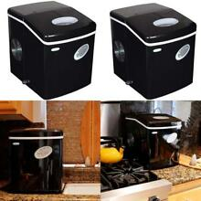 Black Countertop Portable Ice Maker  28 Lb Tabletop Compact Small Cube Icemaker