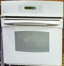 27  White GE PROFILE Convection Self Cleaning WALL OVEN  Great Condition  L k