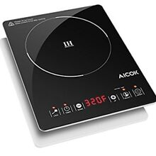 Aicok Portable Induction Cooktop  Countertop Burner with Timer  15 Pow