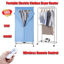 Portable Electric Clothes Dryer Heater Drying Rack RV Wardrobe Apartment  Remote