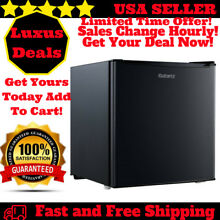 Mini Small Fridge Compact Refrigerator Black Galanz Kitchen Bedroom 1 7 CU FT