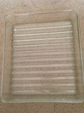 Vintage GE Chiller Glass Refrigerator Tray very collectible 14  x 12  x 2 1 2