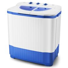18 7lbs Portable Compact Washing Machine Twin Tub Laundry Mini Washer Spin Dryer