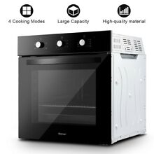 Electric Built in Single Wall Oven 220V Buttons Control Multifunction Oven US