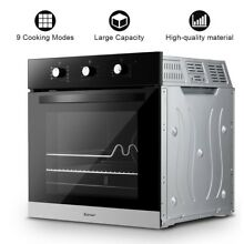 Multifunction Electric Built in Single Wall Oven 220V Buttons Control 70 lbs US