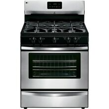 Freestanding Gas Range in Stainless Steel Stove Kitchen Appliance Cooking Oven