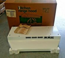 Caloric 30 in Kitchen Range Hood White Under Cabinet 2 speed Duct