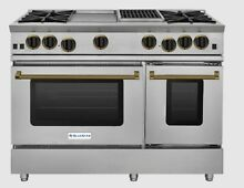 BlueStar RNB484GCBV2 48  Gas Range 4 Burner with 12  Griddle and 12  Charbroiler