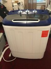 Portable Mini Washing Machine Compact Twin Tub 13lb Washer Spin