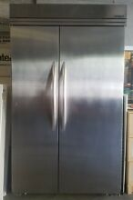 Refrigerator 48  Stainless Steel Kitchenaid Side by Side with ice maker